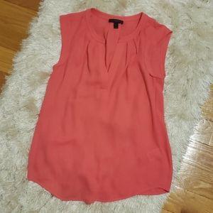 J.Crew sleeveless coral blouse